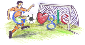 Google Logo: Doodle 4 Google 'I Love Football' National Winner - Kenya